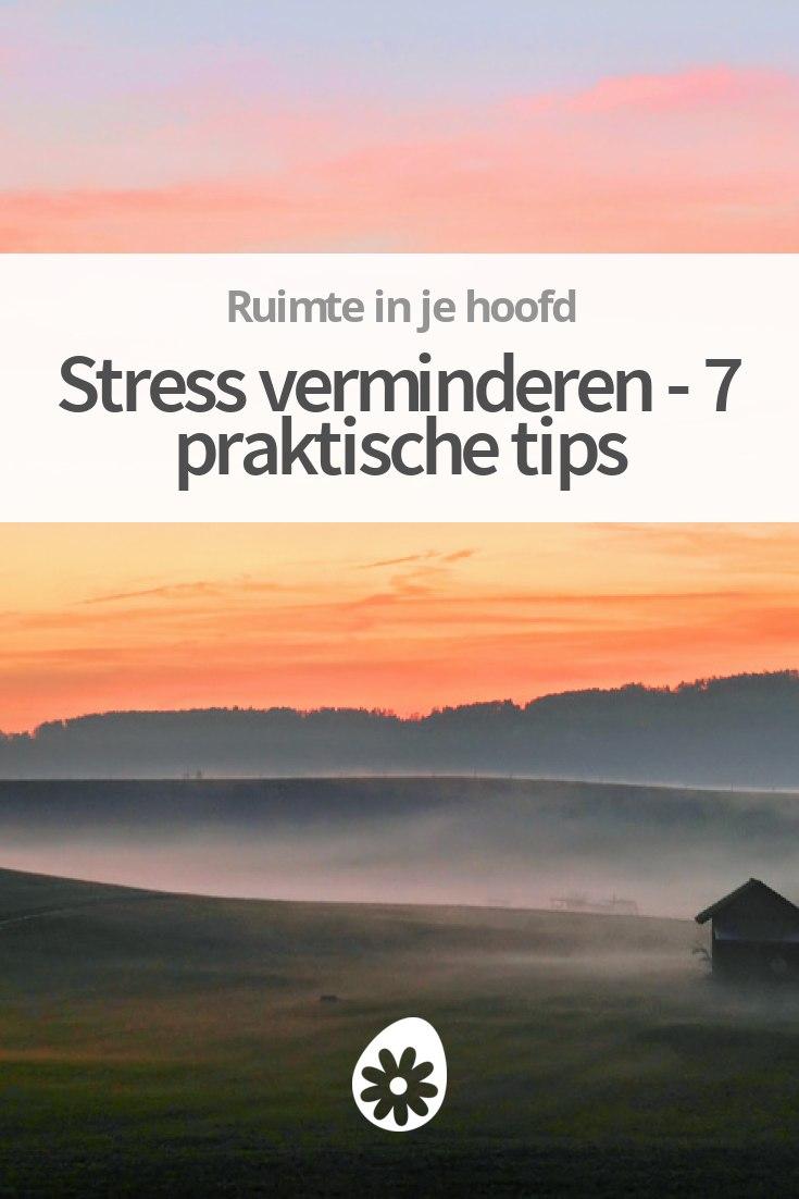 hoe kom je van stress af