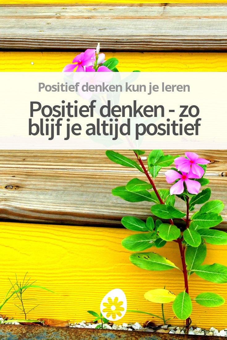 Geliefde Positief denken - zo denk je altijd positief HX37